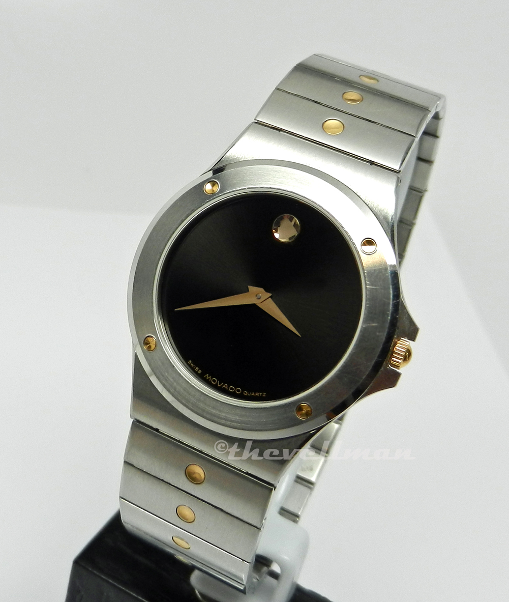 5068201d66b Find best value and selection for your Movado Sport Edition Mens Watch  0605910 search on eBay. Movado Men s 605910 S.E. Black Dial Two-Tone Swiss  Quartz ...